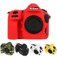 Silicone Armor Skin Case DSLR Camera Body Cover Protector Video Lens Bag For Nikon D500 D4S D4 D800E D800 D850 D810 D7500 A7r3