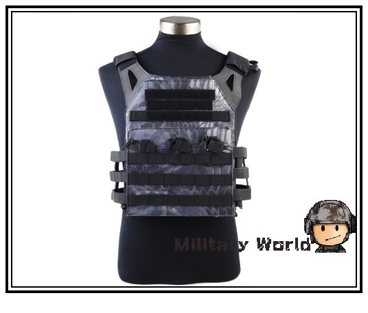 ФОТО Military Combat Gear Outdoor 1000D JPC Tactical Vest Simplified Version with Two Plates for Paintball Hunting Camping Typhon