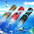 Водонепроницаемый T6 светодиодный подводный светодиодный светильник  велосипедный фонарь 28650/18650  водонепроницаемый  100 м  без аккумулятора  ...