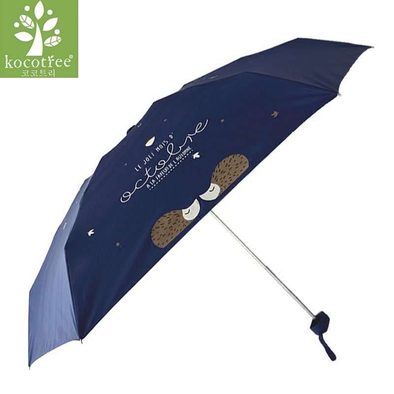 bf0d60e4d8bd OLCAT Fashion five fold umbrella women's summer anti uv paint ...