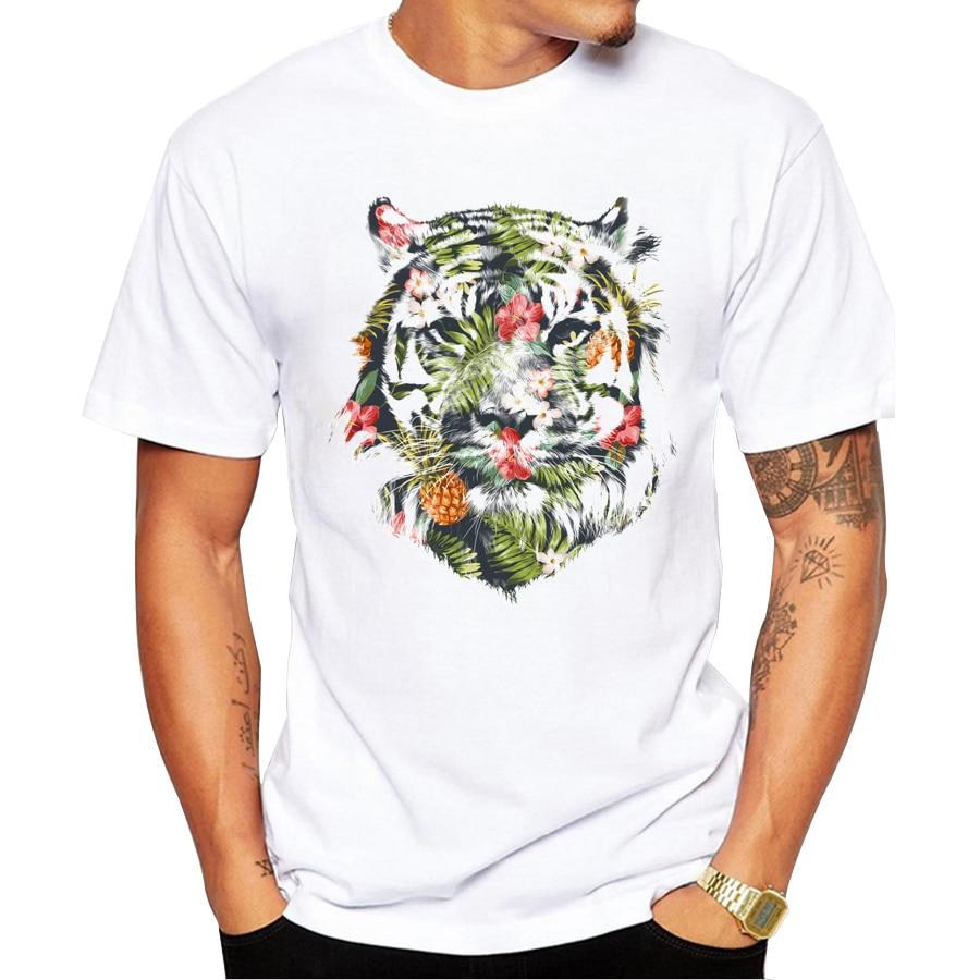 Design t shirt 2017 - 2017 Newest Fashion Printed Tropical Tiger Design T Shirt Fashion Men S Hipster Fitness T Shirts