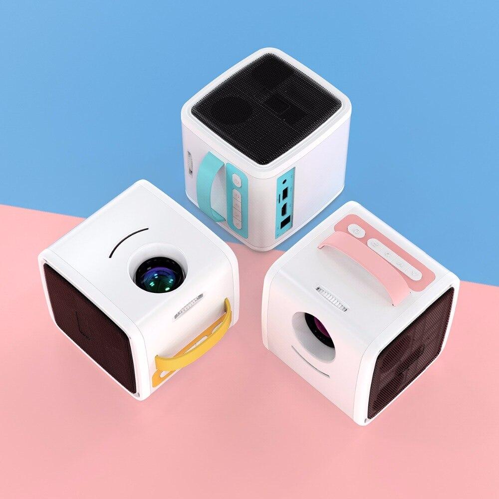 Excelvan Q2 Mini projecteur Portable 700Lumens enfants éducation enfants projecteur projecteur de poche LED TV maison projecteur