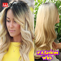 Blonde Ombre Color Synthetic Wig Cheap Price Heat Resistance Synthetic Hair Wigs For Black American Female Wig Natural Looking