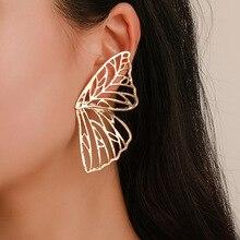 Fashion Fan-shaped Creative Earrings gothic  butterfly wings shape earrings  punk  jewelry hyperbole earrings цена в Москве и Питере
