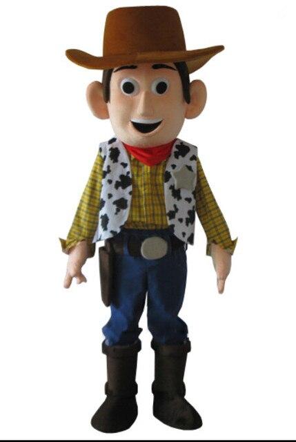 Ковбой Вуди маскот костюм История игрушек Шериф Вуди маскарадный костюм бесплатная доставка