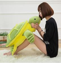 WYZHY Creative small turtle plush toy down cotton soft body pillow cushion big eye children doll 60CM