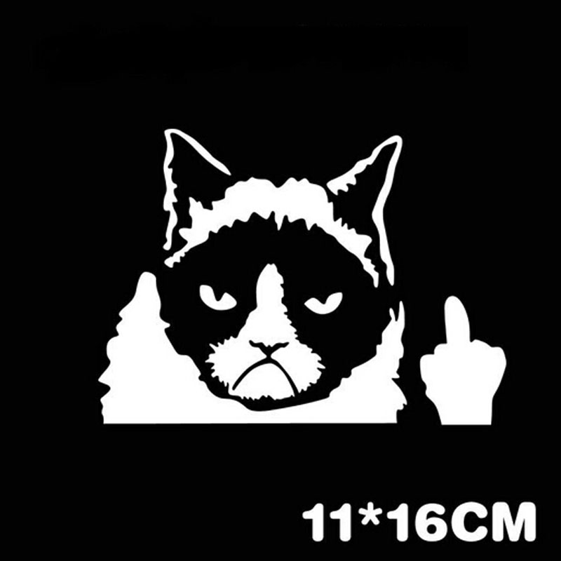 Free Shipping New Pc Newly Vinyl Car Decal Sticker Unique Cat - Unique car decals stickers