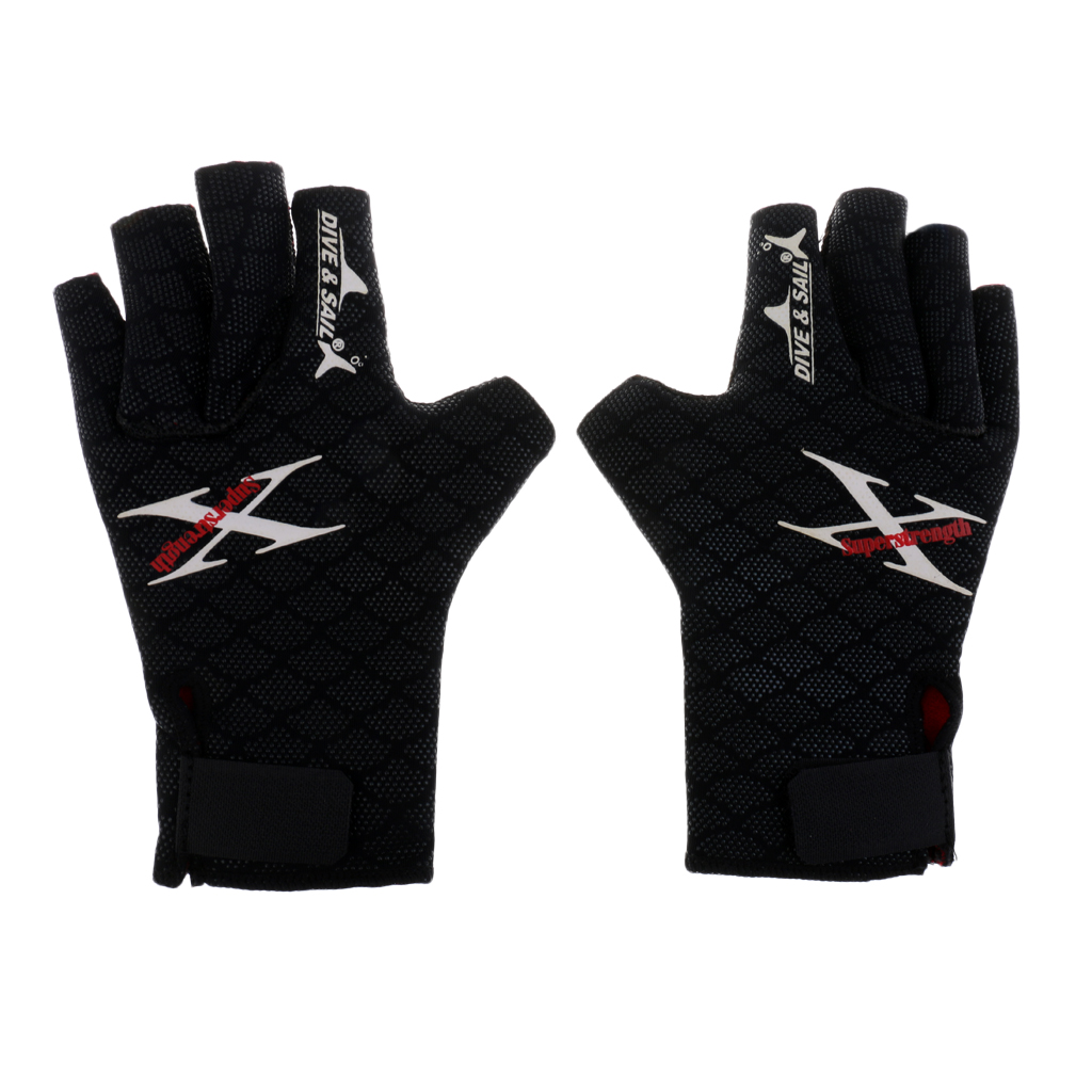 Water Sports Scuba Diving Snorkeling Surfing Wetsuit Fingerless Gloves S/M/L Snorkeling Swimming Diving Gloves