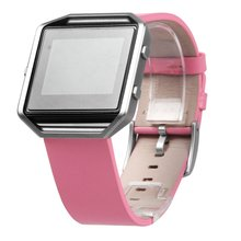 New Fitbit Blaze Bands Pink Leather Torotop Genuine Leather Bracelet Strap Replacement Band For Fitbit Blaze Smart Fitness Watch