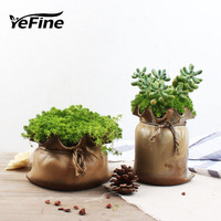 YeFine Fashion Home Decorative Flower Vases Ceramic Pocket Vase Creative Party Wedding Decor Flower Pot Planters