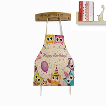 Owl Apron Cooking For Gift Cartoon Apron Funny Novelty BBQ Party Apron Naked Men Women Kitchen Cooking Apron Delantal Cocina