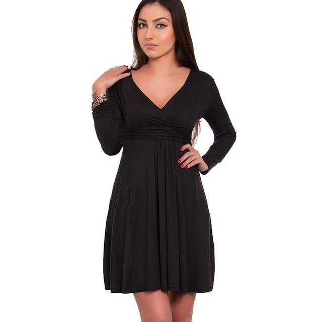 Aamikast Bodycon V Neck Long Sleeve Knee Length New Fashion Hot Sale