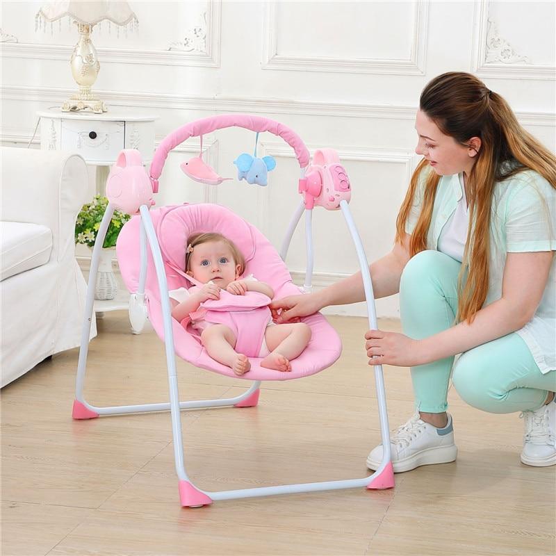 Cunas Para Bebes Multifuncional Intelligent électrique Portable bébé berceau musique infantile Bluetooth bébé lit berceau chaise berçante