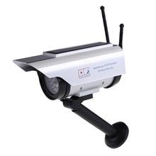 LED אדום אור מהבהב שמש כוח + סוללה מופעל Dummy חיצוני אבטחת בית CCTV Bullet גבוהה סימולציה מזויף מצלמה