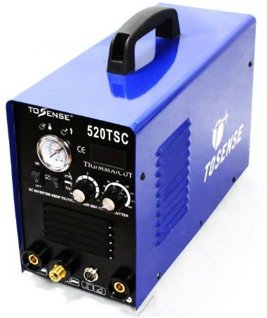 New Design Protable Blue TIG CUT MMA 3 In 1 Multifunction Welding Machine 110V 220V Duplicate Supply 520TSC Free Shipping