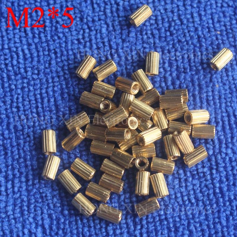 M2 * 5 1 Pcs Latão Standoff Spacer 5mm Fêmea Para Fêmea Espaçadores coluna cilíndrica Alta Qualidade 1 peça venda