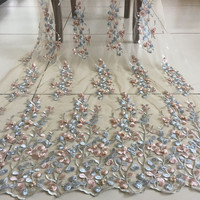 1yard 140cm 55 12 Flower Pearls Lace Trimming Diy Wedding Dress Evening Show Dress Embroidered Lace