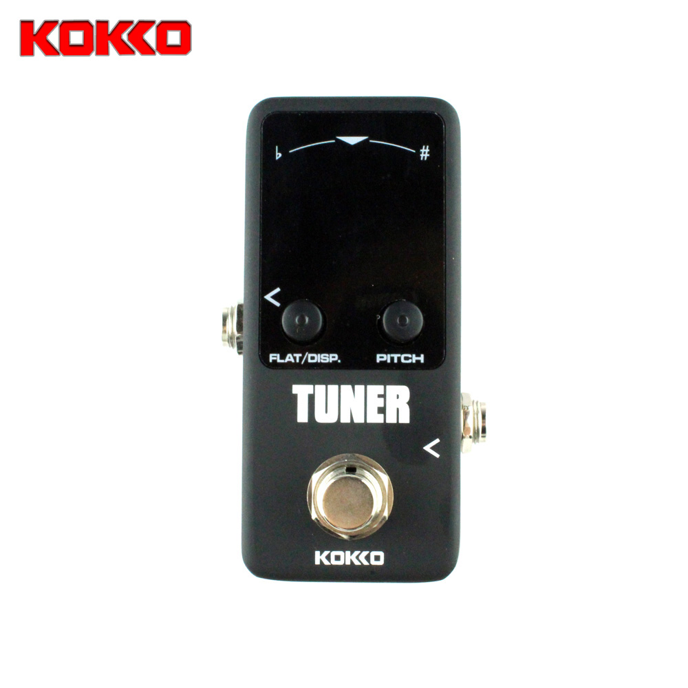 KOKKO Mini Chromatic Guitar Tuner Pedal Effect Device Dual LED Display Guitar Parts & Accessories aroma adr 3 dumbler amp simulator guitar effect pedal mini single pedals with true bypass aluminium alloy guitar accessories