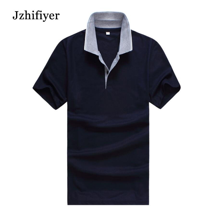 Factory Wholesale 65%Polyester+35%Cotton Plain Short-Sleeve Mens Fashion Polo shirt