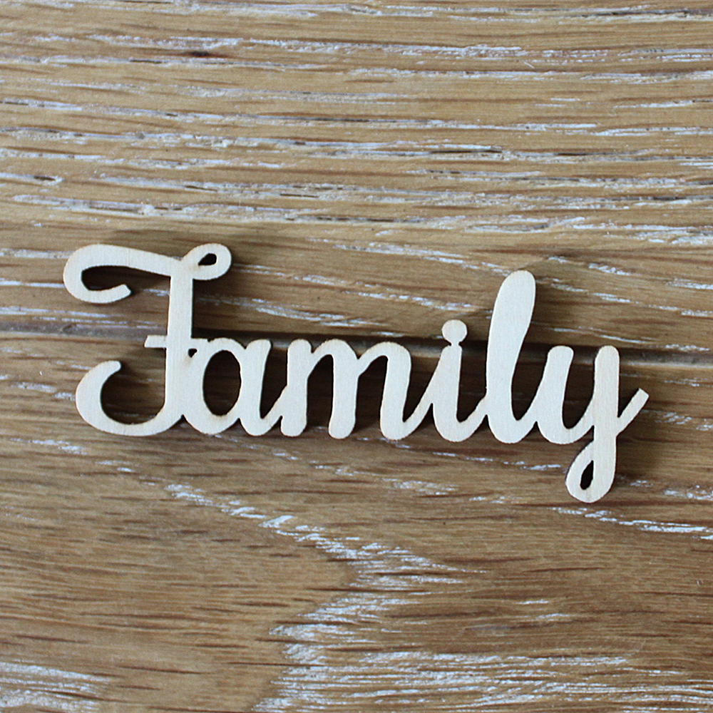 24pcs 100x40mm wooden family word letters alphabet script for family tree crafts home wedding