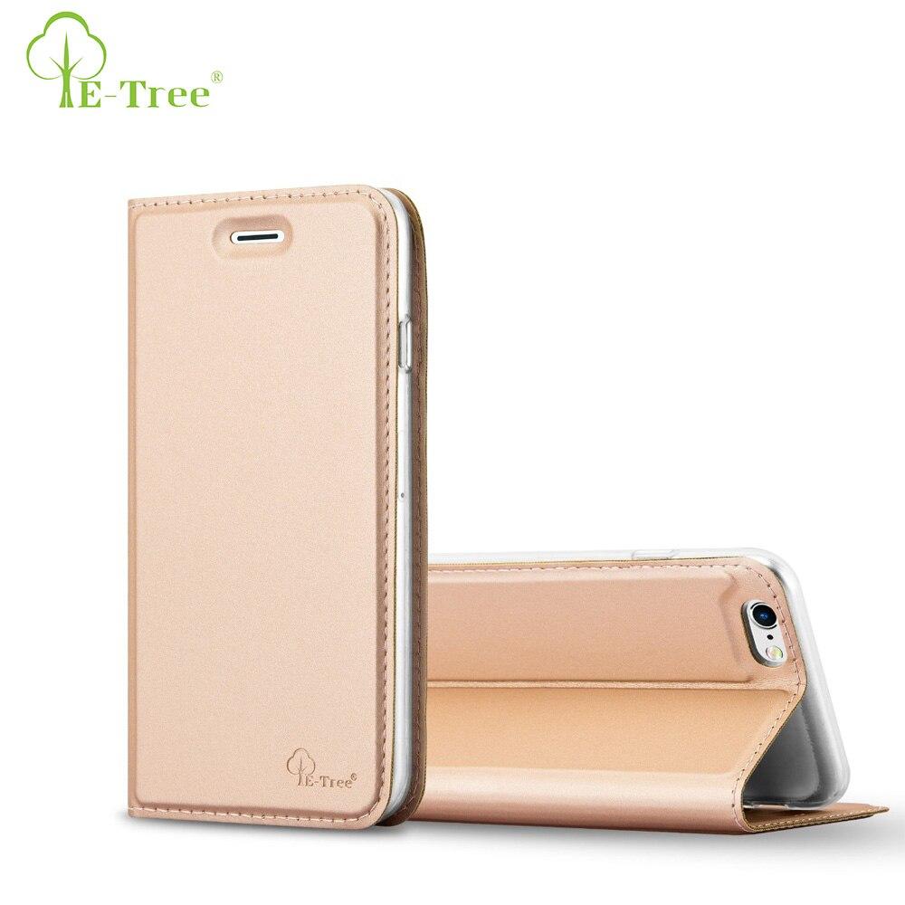 E-дерево бренд искусственная кожа телефон чехол для iPhone 6 откидная крышка, защитный разъем карты чехол для iPhone 6 S Чехол