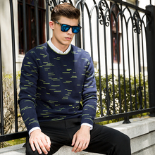 New Spring Fashion Brand clothing Casual Sweater men crewneck Slim Fit Mens Sweaters And Pullovers cotton sweater