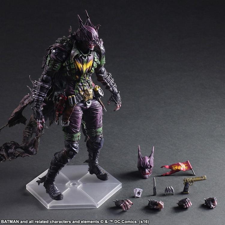 DC COMICS вариант Играть искусств Кай Бэтмен Rogues Gallery Джокер ПВХ фигурку Коллекционная модель игрушки 26 см KT3984