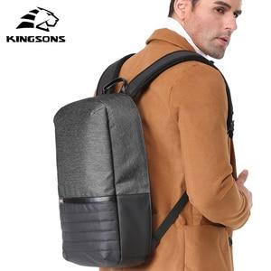 Image 5 - Kingsons 15 zoll Laptop Rucksack USB Lade Anti Theft Rucksäcke Männer Reise Rucksack Wasserdicht Schule Tasche Männlichen Mochila