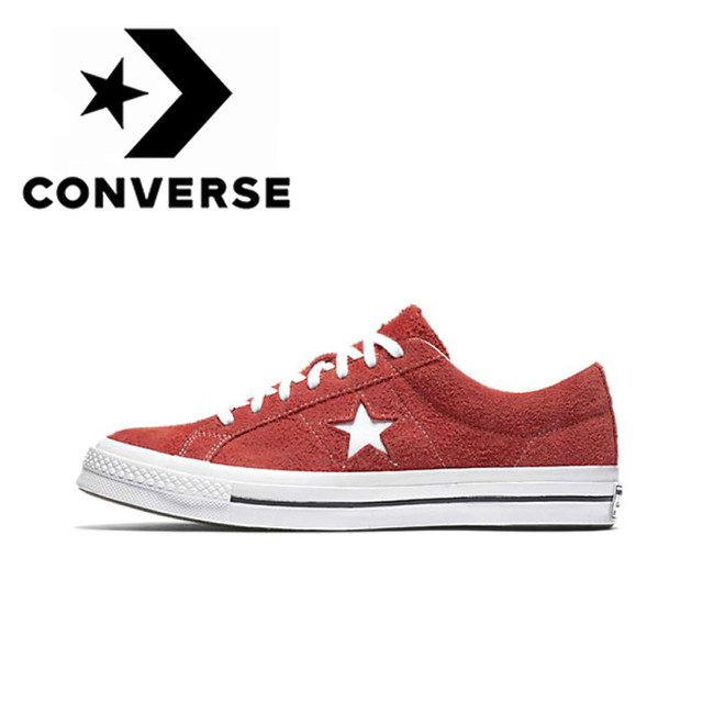 Original Authentic Converse One Star New Classic Unisex  Low Top Skateboarding Shoes Canvas Lace-up Comfortable Footwear 158434c