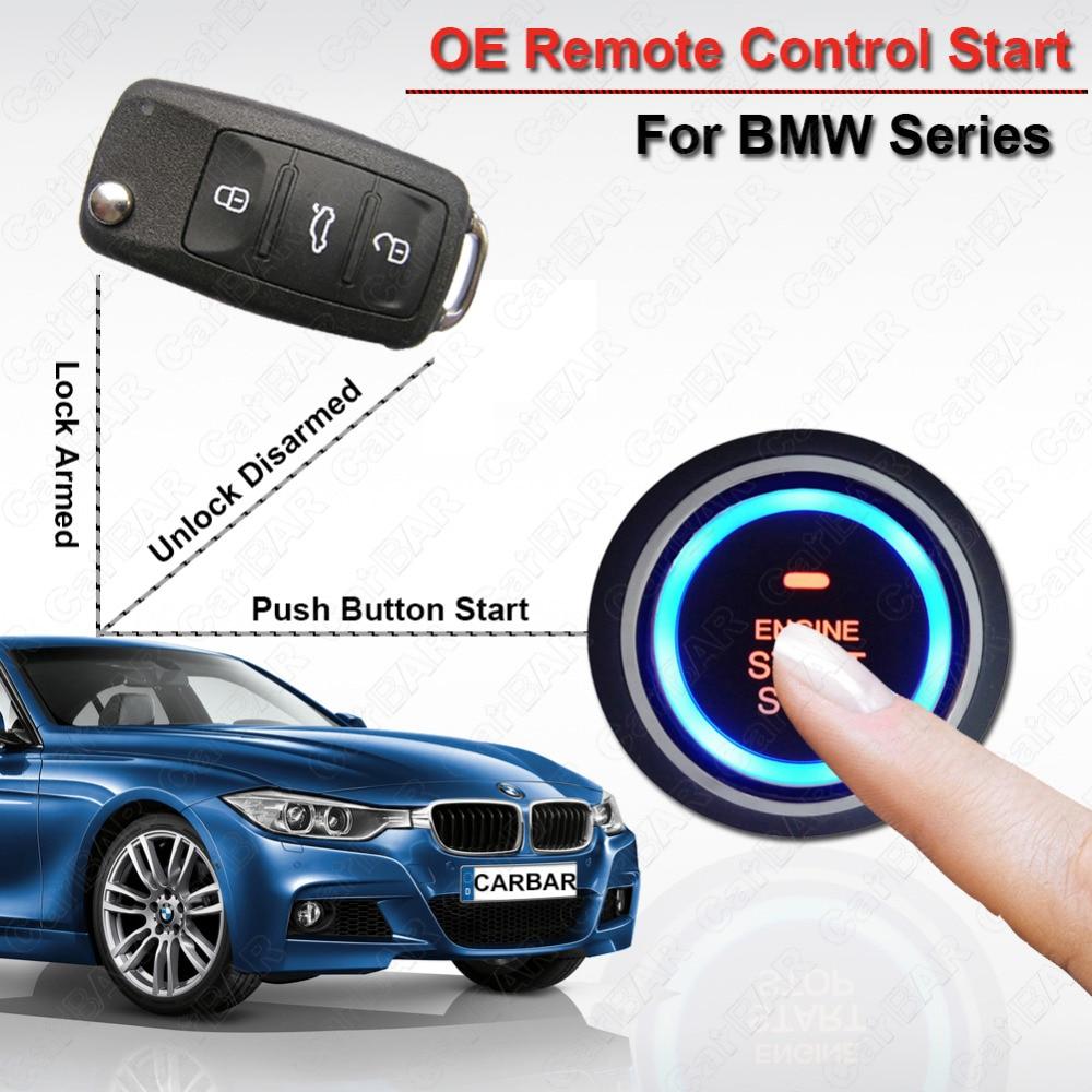 Démarrage du moteur arrêt alarme de voiture pour BMW système d'entrée sans clé serrure de porte de voiture déverrouillage automatique Original démarrage à distance voiture CARBAR