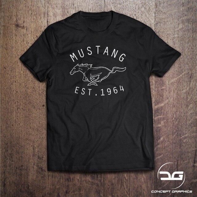 73fd218041 Classic Mustang Men S Black T Shirt Novelty Gift 2019 Summer T Shirt Short  Sleeve Cotton