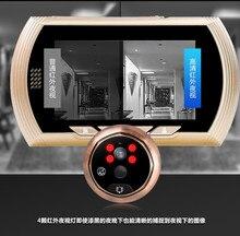 4,3 дюймов 2MP 150 градусов wifi дверной звонок Обнаружение движения видео дверной телефон глазок