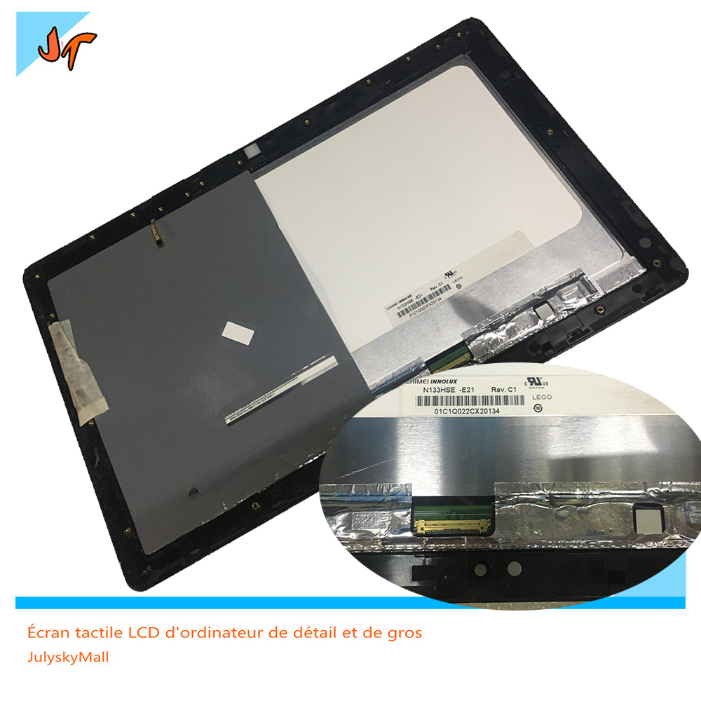 Touch screen glass 12 5 inch LCD display digitizer display frame for ASUS transformer book TX300