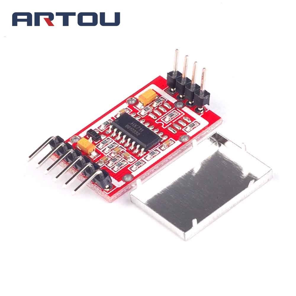 HX711 Dual-channel 24-bit A/D Umwandlung Wiegen Sensor Modul mit Metall Gescheut