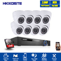HKIXDISTE 8CH NVR 1080P IP Network POE Video Record IR Indoor Outdoor CCTV Security Camera System Home video Surveillance kit