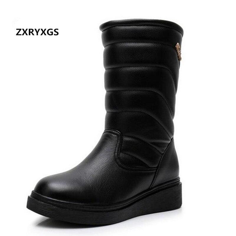 Cuir Bottes Neige brown slip La Nouvelle Chaussures Véritable Femme Taille Martin Noir Plus De Chaud 35 Plat Non Femmes Mode 2018 D'hiver 43 En P8qwxgwY6