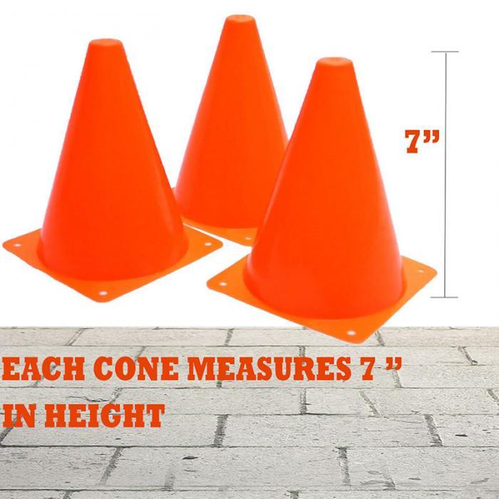 12 pces 18cm deslumbrante brinquedos tráfego cones