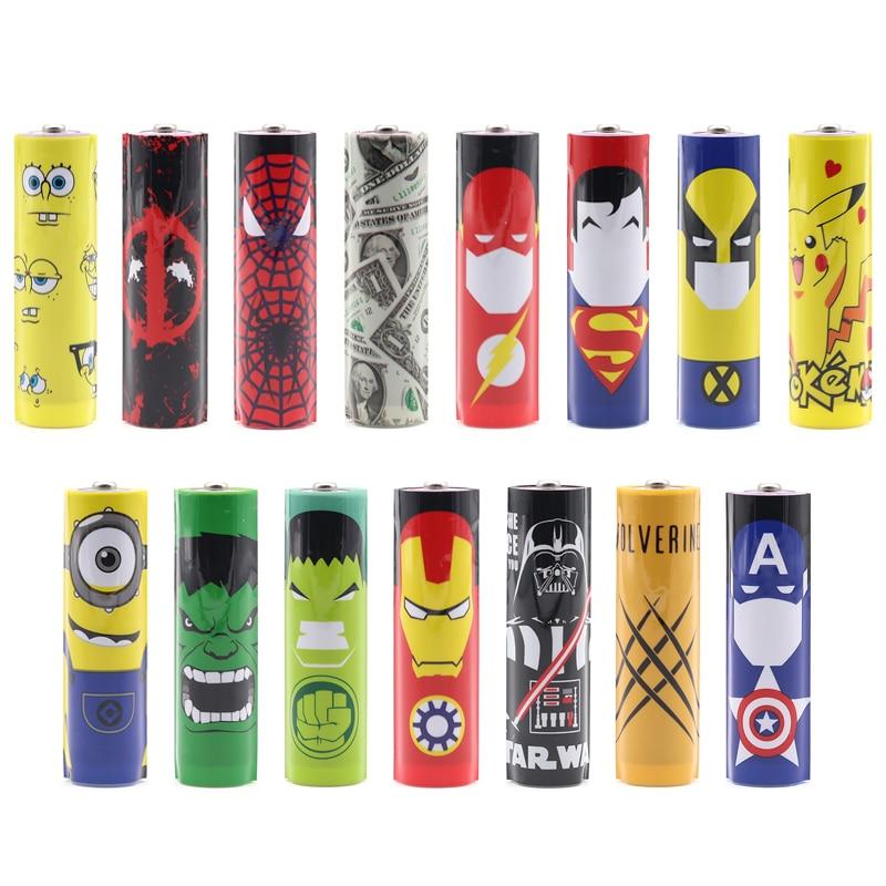 EBL 10 PCS a pack 15styles 18650 Battery Sleeve PVC Heat Shrinkable Tubing 18650 Battery Sticker