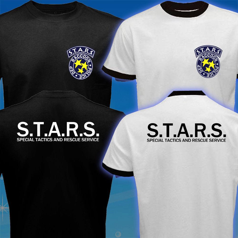 STARS Resident Evil Umbrella Corp Biohazard rendőrségi póló Férfi 2017 új divat rövid ujjú póló harajuku ing camisetas Tee