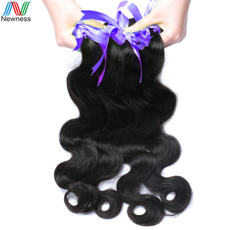 Newness Hair Peruvian Body Wave Weave 100% Human Hair Bundles 12-32inch 1 Piece Natural Color Non Remy Hair Extension