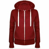 Ladies Women Hoodies Sweatshirt Men Coat Top NEW 4 Colors Unisex Plain Zip Up Hooded Zipper