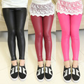 2015 kids fashion children's pants girl leggings 4-12 year kids thin leather pants trousers baby teenage girl pant child legging