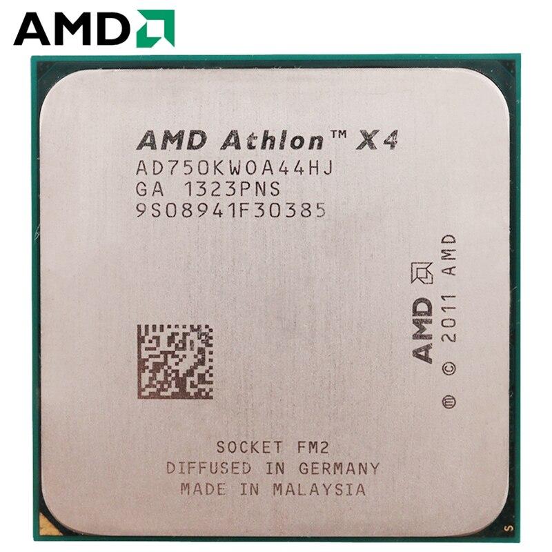 AMD Athlon II X4 750K Socket FM2 100W 3.4GHz 904-pin Quad-Core CPU Desktop Processor X4 750k Socket Fm2