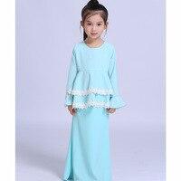 אופנה אביב הקיץ מוצק ורוד כחול שתי שכבה למעלה נסיכה באורך קרסול שמלת ערב שמלת תחרה לקצץ מזויף שתי חתיכות KD-1843