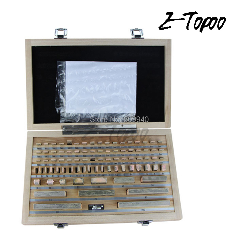 ETOPOO 1.005-100mm 0 Grade 1 Grade Block Gauge Inpsection Block 83pcs/set Inspection Gauge Block