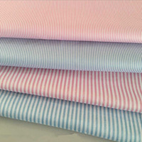 1 Meter Pink Or Blue Stripe Pirnt Cotton Twill Fabric For Bedding Baby S Cloth CR
