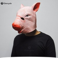 Đáng sợ Dành Cho Người Lớn Mặt Nạ Động Vật, Pig Head Mặt Nạ Cao Su cho Halloween, Các Masquerade Bên Silicone Cao Su Sinh Nhật Mặt N