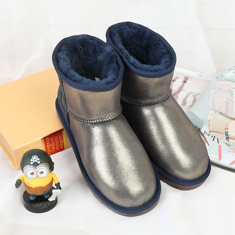 28ddc59166f Precio de la promoción nuevo 100% Australia botas para la nieve botas de  piel de