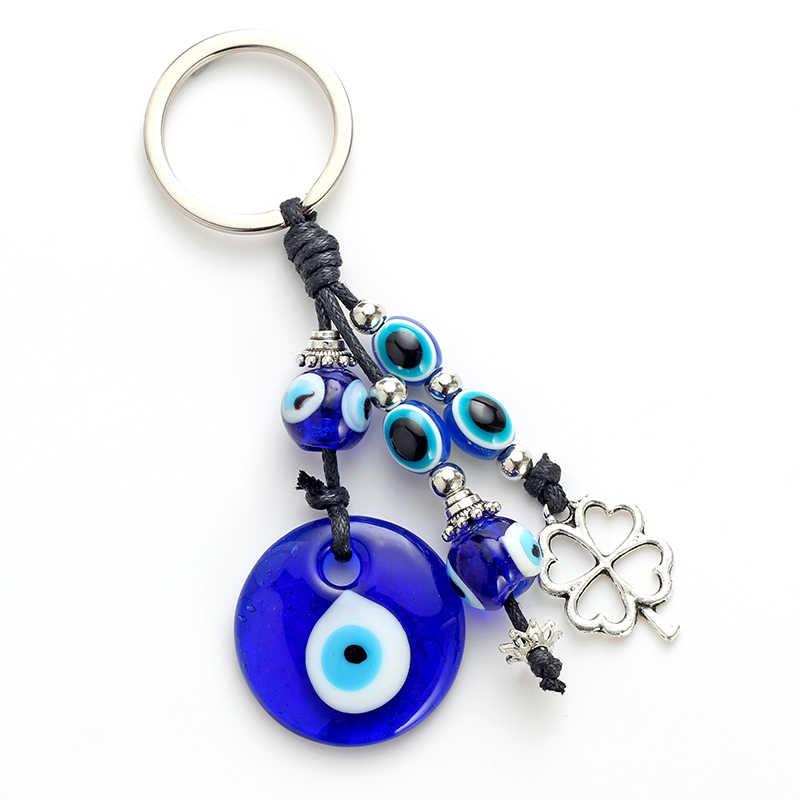 May mắn Mắt Lá Quyến Rũ Quyến Rũ Keychain Kính Mắt Ác Độc Móc Chìa Khóa Hợp Kim Móc Chìa Khóa Xe Người Đàn Ông Phụ Nữ Đồ Trang Sức Thời Trang EY4733