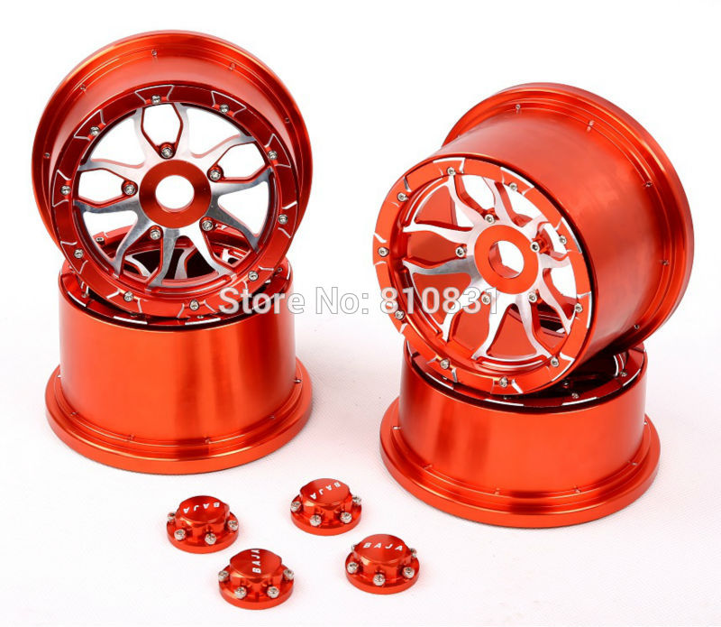 Baja 5B CNC metal wheel with new CNC seal chocks CNC 5B metal hub Kit fit for 1/5 RC CAR hpi rovan baja 5b Upgrade parts